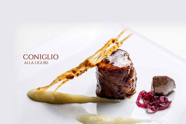 Esempio di cucina del ristorante Il Vescovado, Noli, Liguria