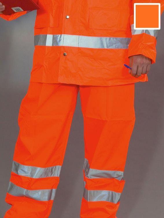 Hi-Vis Waterproof Railway Trousers - GO/RT 3279 - High Visibility Orange