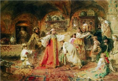 Hide and Seek - Konstantin Makovsky, c.1890, 185/366.