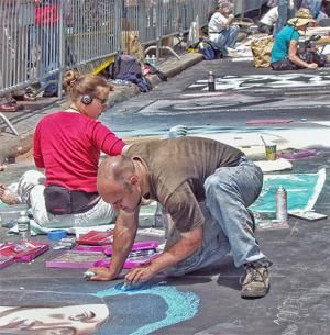 Guide to Visiting North Beach San Francisco (Little Italy): Street Painting at the North Beach Festival