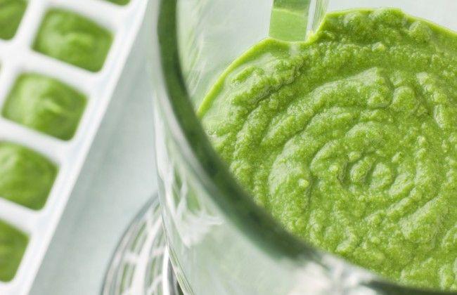 Slim: groene smoothie in een ijsblokjesvorm