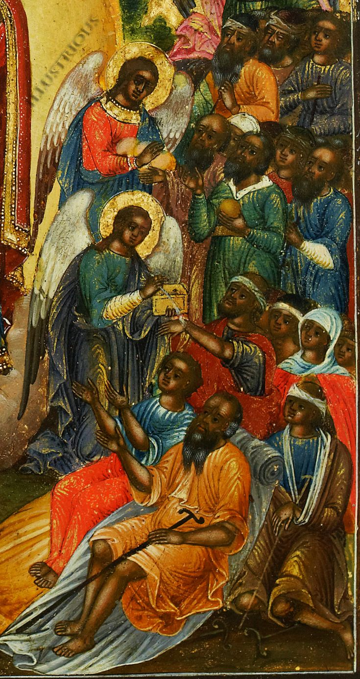 Detail of Israelite Negroes from 19th century Icon. ALL the ANGLES ALL PROPHETS ARE BLACK✊