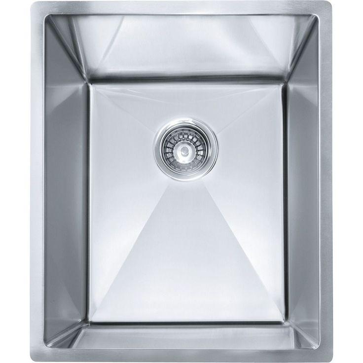 Franke Planar 8 Undermount Steel PEX110-14 Stainless Steel (Silver) Kitchen Sink (Stainless Steel)