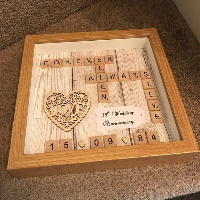 10x10 White Black Wooden Frame Plastic Wooden Scrabble Art Picture Wooden Mr Mrs Heart Personalised Wedding Anniversary Engagement Scrabble Art Card Patterns Shadow Box Frames