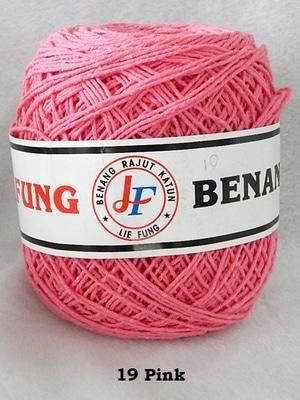 Benang Rajut Katun Lie Fung (19 Pink)