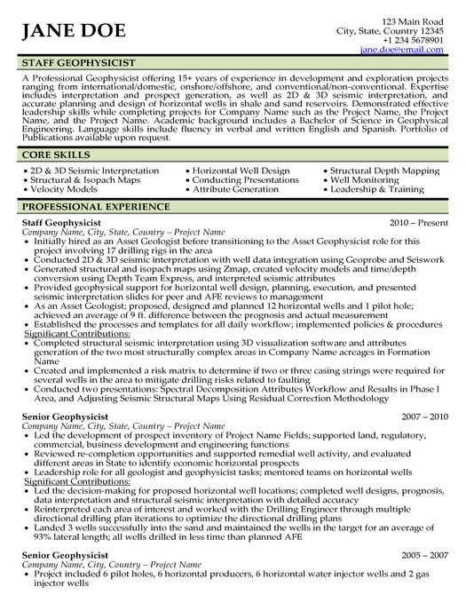 geologist resume sample college pinterest resume and oil
