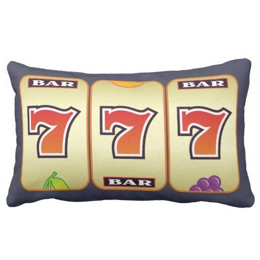 slot machine sevens cushions