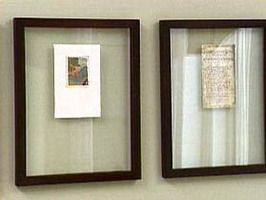 use a double sided glass frame to a special old letter or float sheet music - Double Glass Frame
