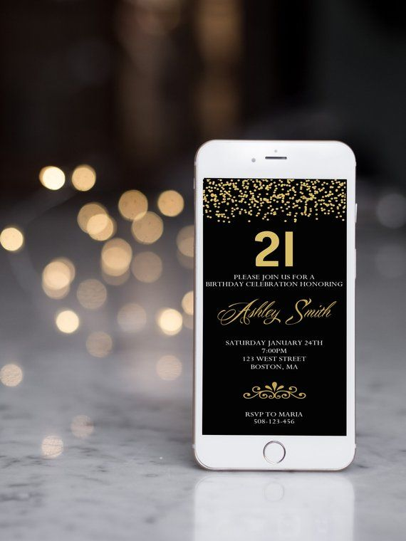 Milestone Birthday Invitation 21st 30th 50th 80th Text Message Email Invite Web
