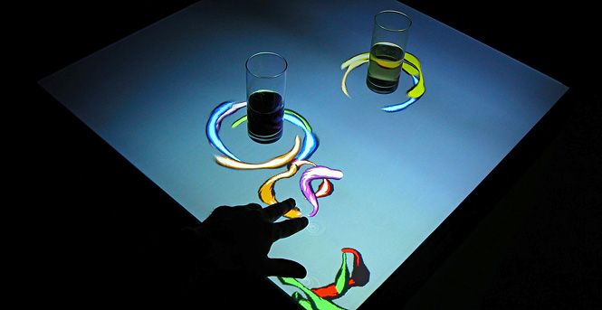Interactive bar table