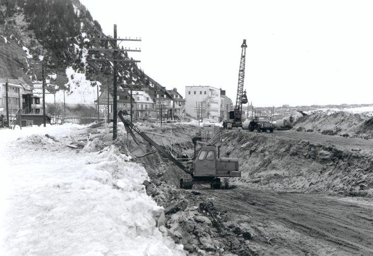 boulevard Champlain en construction, 1962