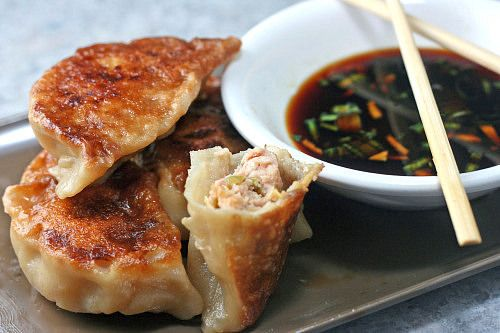 potstickers dumplings recipes potstickers gyozas dumplings pork ...