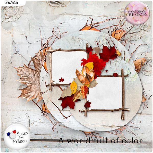 A world full of color Freebie by Vanessa's Creations
