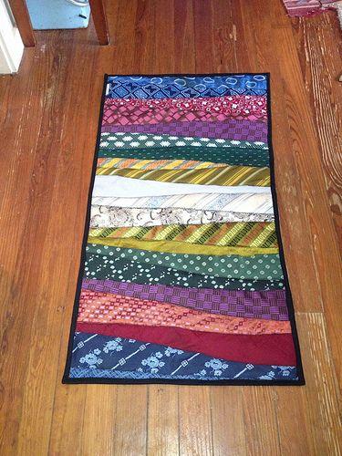 Necktie Rug - striking yet oh, so simple!