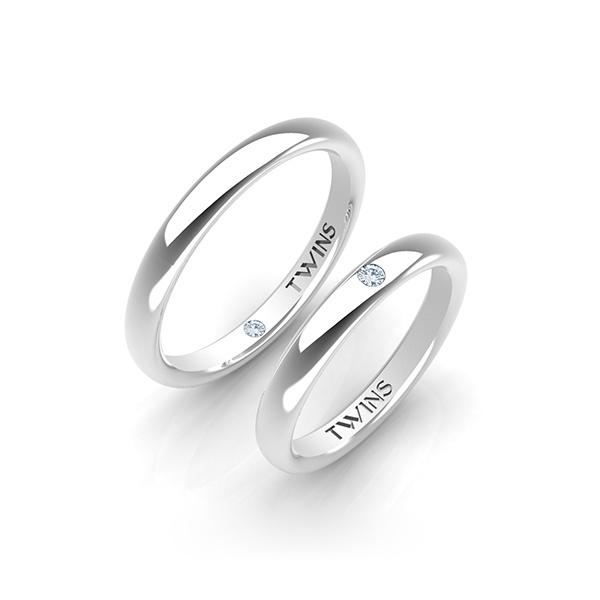 Alianzas de boda - oro blanco