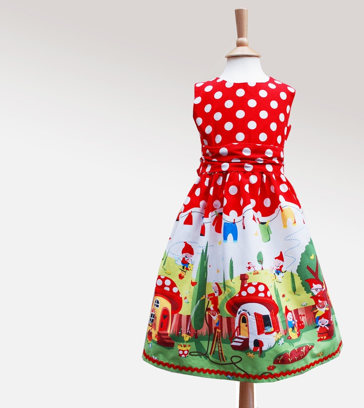 Little girls party dress- gnome print. $67.00, via Etsy. for your gnome board @Jan Aschim: Party Dresses, Girl Parties, Party'S Dresses, Wild Things, Parties Dresses, Dresses Gnomes, Girls Gnomes, Little Girls Parties, Gnomes Prints