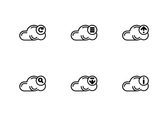 """Vector bold line icons. """"Cloud storage interface GUI"""" set. #LineIcons #VectorIcons"""