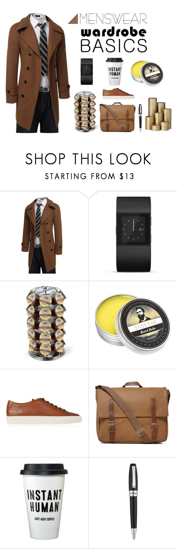 """""""Men's Wear"""" by ioakleaf on Polyvore featuring beauty, Fitbit, Keurig, Common Projects, Ally Capellino, Montegrappa and ferm LIVING"""