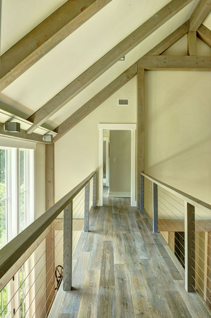 Contemporary catwalk in the southold barn home visit to for Catwalk flooring