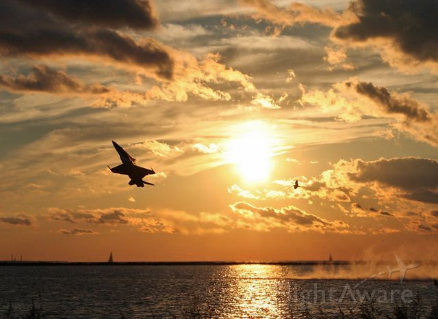 From the archives (3 Sept 2006), this was a rare treat to watch a Blue Angel sunset departure over Lake Erie in Cleveland. US Navy Blue Angel
