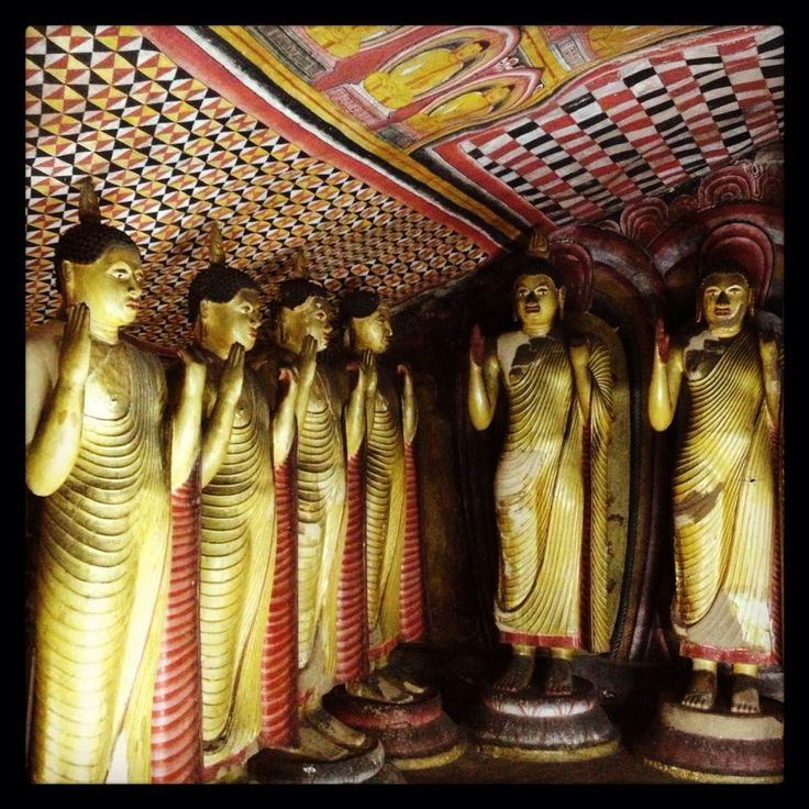 Treasures inside the Dambulla Caves. Sri Lanka.