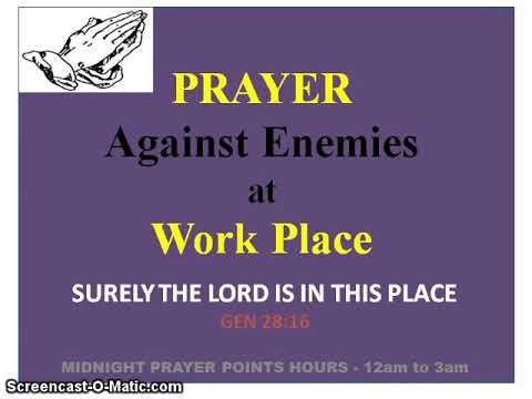 Prayer Against Enemies at Workplace | Prayers Files in 2019 | Prayer