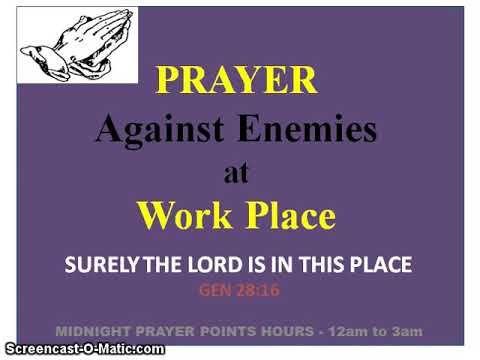 Prayer Against Enemies at Workplace | Prayers Files in 2019