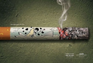 With cigarettes, your life goes to ashes.