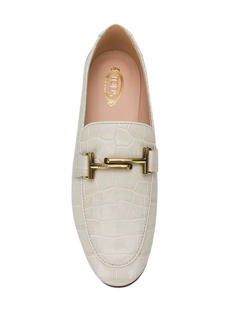 a92ff314078 Tod s Crocodile Effect Loafers in 2019