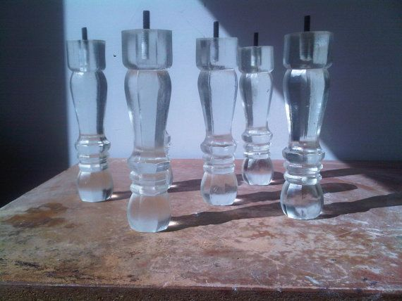 Beautiful Crystal Clear Poly Resin Furniture Legs For