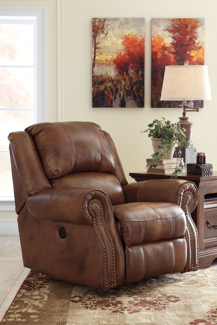 Walworth Power Recliner by Ashley Furniture at Kensington Furniture!