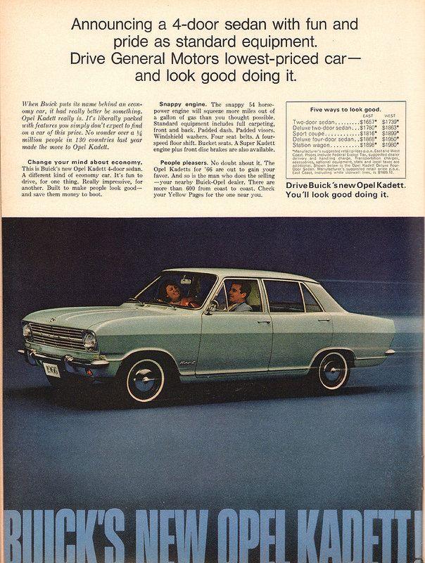 1966 buick opel kadett advertisement newsweek november 22 1965