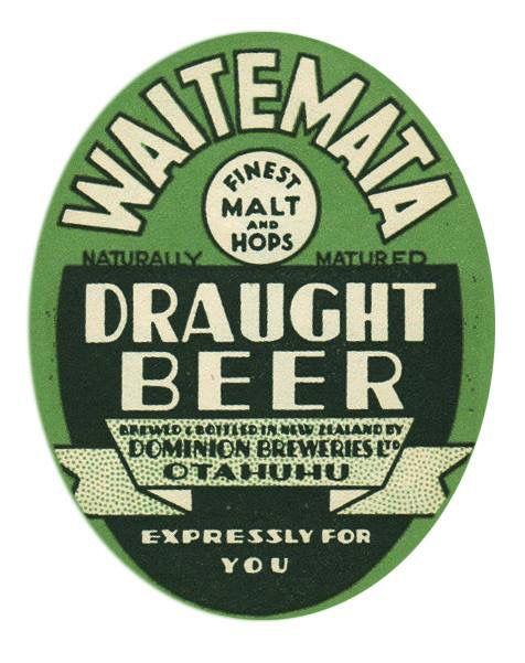 Beer Label New Zealand 1950s