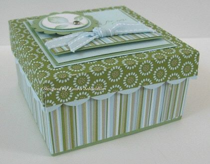 Mini card box tutorial. Could be made using Stampin' Up's Simply Scored tool