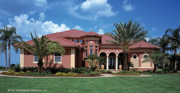 Mediterranean House Plan with 4391 Square Feet and 6 Bedrooms from Dream Home Source | House Plan Code DHSW53198