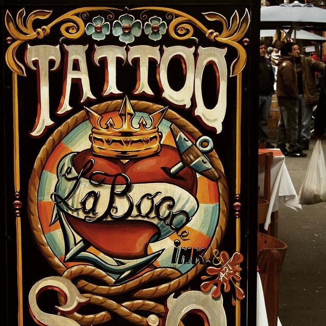 La Boca Fileteado Porteño tattoo