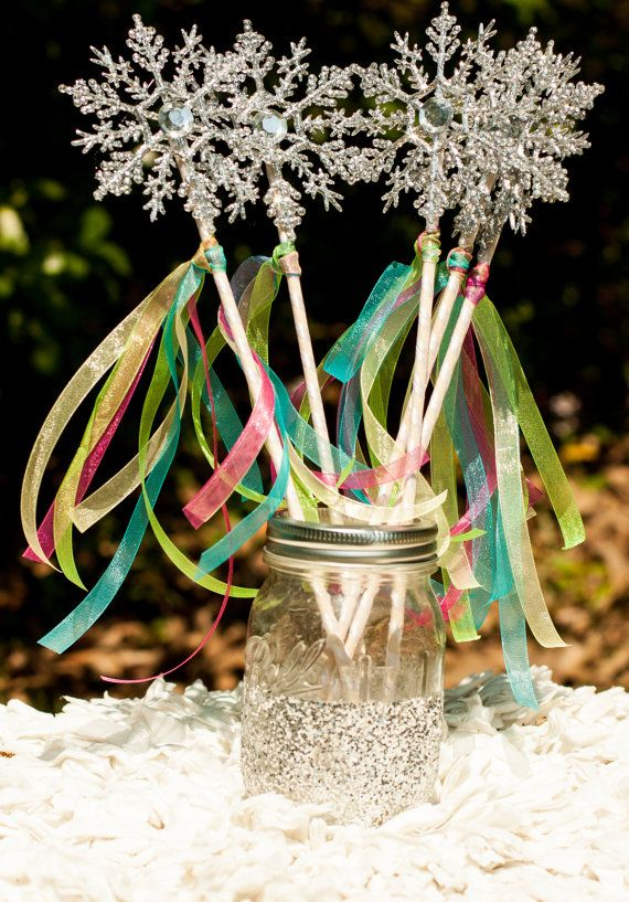Frozen Fever Party Snowflake Wands Centerpiece Table Decoration set of 10