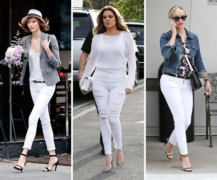 Stop! Don't put your white jeans away after Labor Day. How to wear them in the fall...