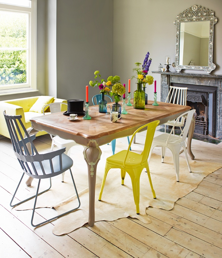 I Really Do Like The Eclectic Mix Of Dining Chairs Look
