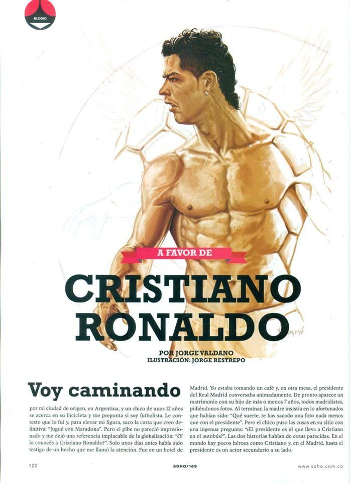 Ilustración para la revista SoHo. Artículo de Jorge Valdano.