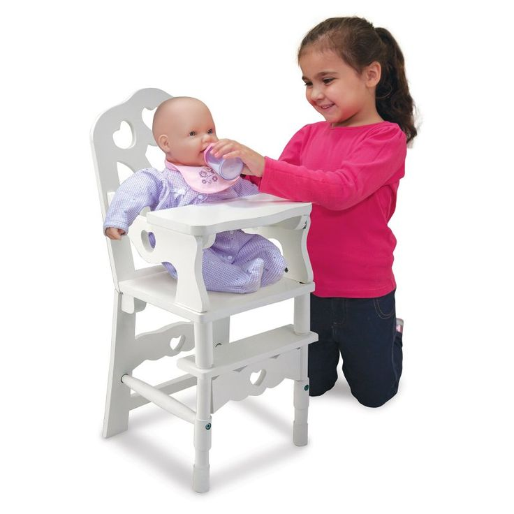 Melissa and Doug Wooden Doll High Chair - 9382