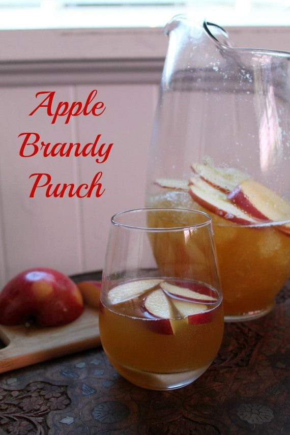 Apple Brandy Punch | How to be awesome on $20 a day #punch #apple