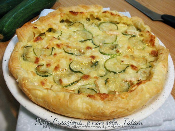 Torta salata con zucchine e brie | ricetta piatto unico, finger-food
