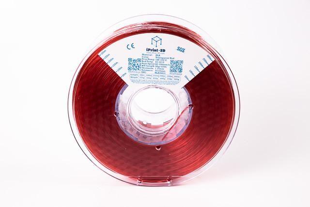 Transparent Red PLA Premium 3D Filament