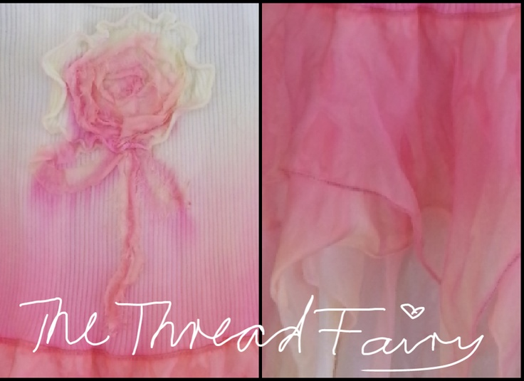 A sneak-peek of a handmade Flutter-by dress whilst in the process of being dyed. ♥ The Thread Fairy