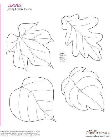 molde hojas - Buscar con Google
