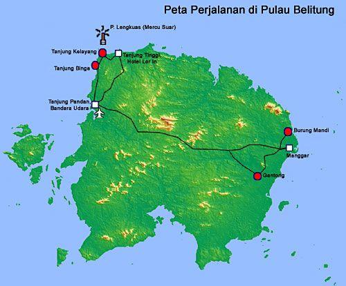 Tour Bangka Belitung Map