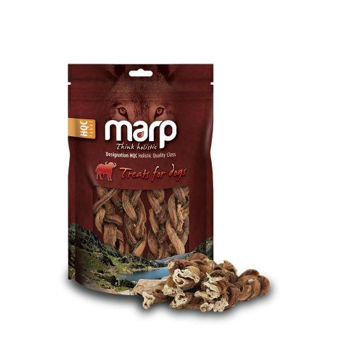 Sušené pamlsky pro psy - Buffalo Braided - snižuje zápach a tvorbu zubního kamene - potravinářská kvalita surovin - vyrobeno z volně pasoucích se bůvolů - nižší obsah tuku a cholesterolu než u hovězích pamlsků  Složení:  Sušené buvolí pletené penisy Sušené pamlsky pro psy - Buffalo Braided Hrubý protein 82,84%, Hrubý tuk 9,07%, Popeloviny 3,29%, Hrubá vláknina 0,44%, Vlhkost 4,68%