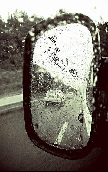 Esőben...