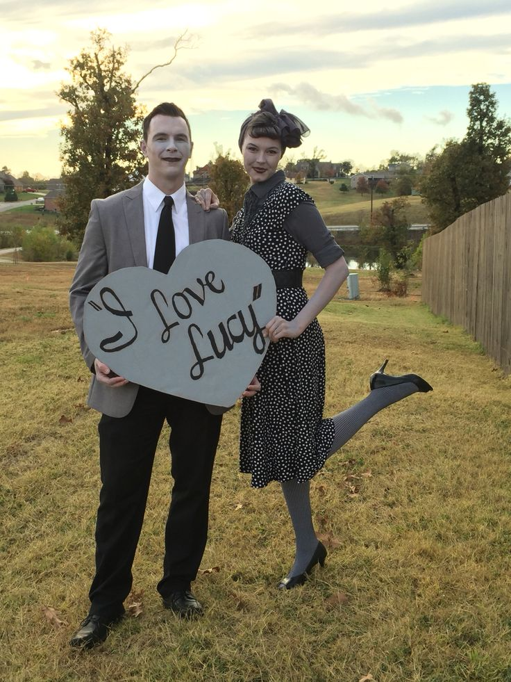 First place Halloween costume. I love Lucy and Ricky costume ... But greyscaled.